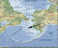 Alaska On A Map by Weatherwise Magazine What Killed The Reindeer Of Saint Matthew