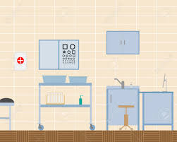 view of the design of the doctor office ophthalmologist vector