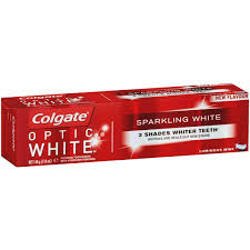 toothpaste whitening colgate optic white whitening toothpaste 140g woolworths