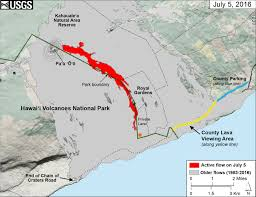 Hawaii Island Map Video Lava Update U2013 Lava Flow Continues Slow Advance