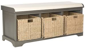 Wicker Storage Bench Amh5733a Benches Furniture By Safavieh