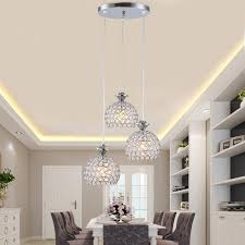 modern crystal pendant light fixtures restaurant kitchen dining room hanging lamp chrome iron e27 220v for decor home in pendant lights from lights