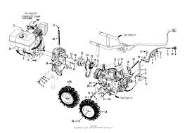 troy bilt 12090 8hp electric pto horse tiller parts diagrams