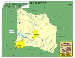Map Of Middle Tennessee by Coffee County Tennessee Century Farms