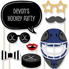 photobooth props shoots scores hockey 20 photo booth props kit