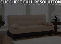 Leather Click Clack Sofa Tufted Ottoman Chair Leather Seat Convertible Bed Room Stool