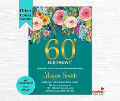 60 year birthday ideas best 25 60th birthday invitations ideas on