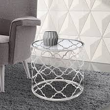 armen living coffee table armen living lcfllaglbs florence end tables with clear glass and
