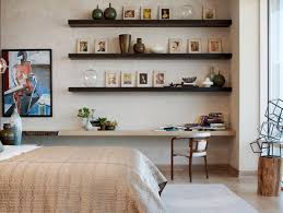 home interior wall design modern bedroom ideas with wall mounted shelves home interior