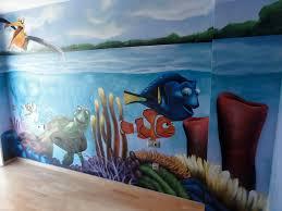Baby S Room Decoration Berok Graffiti Artist Finding Nemo Painting A Baby U0027s Room