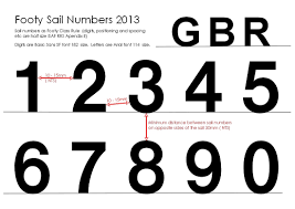 add sail numbers sail footy uk