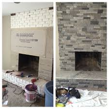 How To Reface A Fireplace by Best 25 Fireplace Refacing Ideas On Pinterest Airstone Reface