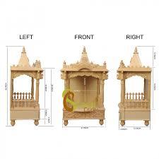 wooden home temple design interior design