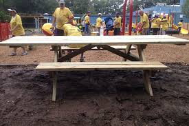 Building Wooden Picnic Tables by How To Build An Ada Picnic Table Kaboom