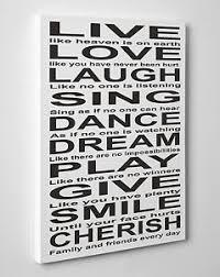 live love laugh large live love laugh sing dance dream quote canvas print wall art
