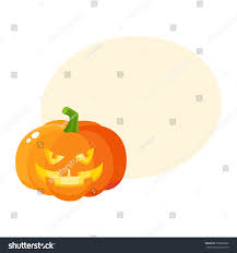 laughing grinning pumpkin jackolantern vampire teeth stock vector