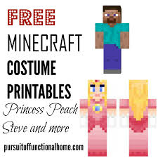 Minecraft Costume Free Minecraft Costume Printables U2013 Pursuit Of Functional Home