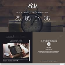 nom responsive countdown landing page template and web design