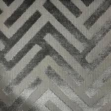 Wool Drapery Fabric Ministry Geometric Pattern Cut Velvet Upholstery Fabric By The Yard