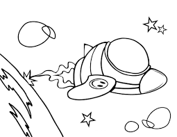 100 rocket coloring page vector of a cartoon man building a