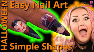easy halloween nail art naio nails tutorial youtube