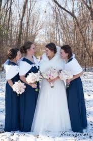 fur shawls for bridesmaids this idea for a winter wedding fur shawls and navy