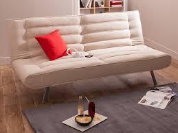canapé fait maison canapé clic clac tissu dossier matelassé pieds métal
