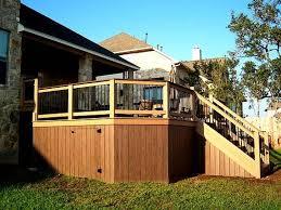 stunning deck storage ideas under frontyard deck space with black