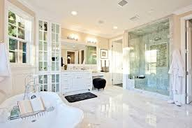 Luxury White Master Bathroom Ideas Pictures Pedestal Tub - Elegant white cabinet bathroom ideas house