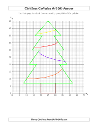 the christmas cartesian art tree a math worksheet from the