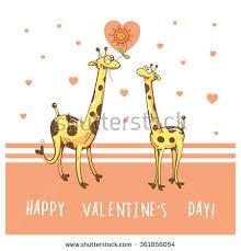 s day giraffe giraffe family stock vector 116394097