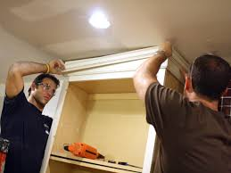 how to add crown moulding to cabinets how to install cabinet crown molding how tos diy