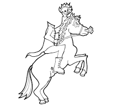 ghost of halloween coloring pages free headless horseman