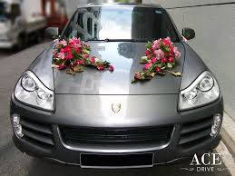 porsche cayenne s wedding car decorations