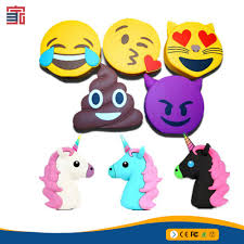 ice cream emoji new arrival bulk cheap 2600mah unicorn power bank emoji power bank