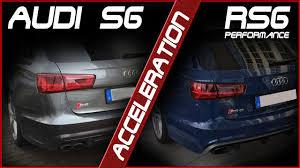 audi s6 vs acceleration audi s6 vs rs6 performance