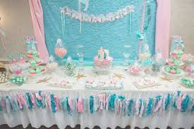 mermaid themed baby shower table decorations for baby shower diy mermaid themed baby shower