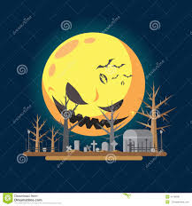 flat design halloween graveyard illustration stock vector image