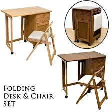 office table and chair set folding office tables 2 in 1 convertible wood folding desk cabinet
