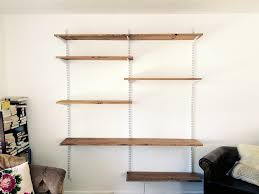 Wall Mounted Bookshelves Wood by Wall Mounted Shelving Wallmounted Shelving Systems You Can Diy