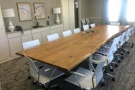 Oak Meeting Table Wood Anchor Solid Oak Conference Table