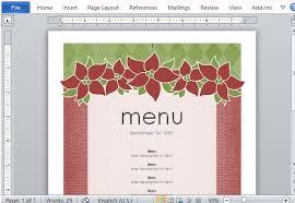 menu publisher template best menu maker templates for word
