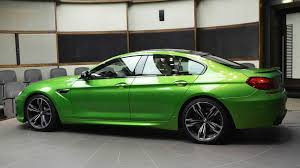 bmw modified heavily modified bmw m6 gran coupe in java green looks like no other