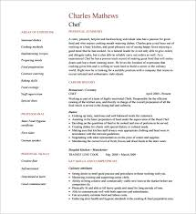 chef resume exle pastry chef resume template 14 free word excel pdf psd format 9