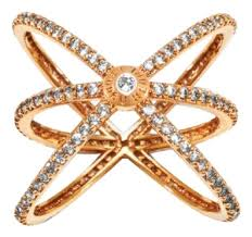 crystal pave rings images Henri bendel gold tone crystal pave orbital ring tradesy jpg
