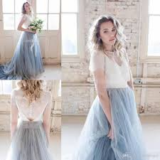 dusty wedding dress discount 2018 autumn chic country wedding dresses dusty tulle