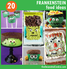 Food Idea For Halloween Party by 20 Frankenstein Food Ideas For Halloween The Decorated Cookie