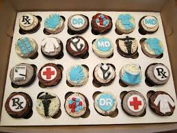 12 x edible icing medical doctor themed cupcake toppers