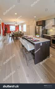 kitchen counter table design nicely decorated kitchen counter table iceland stock photo