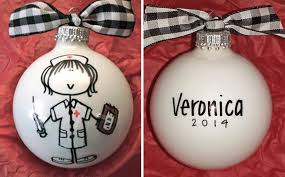 bling personalized ornament scrubs the leading
